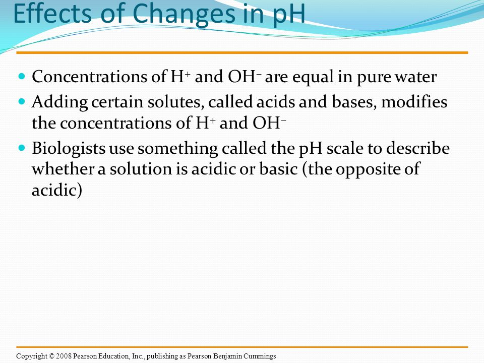 Effects of Changes in pH