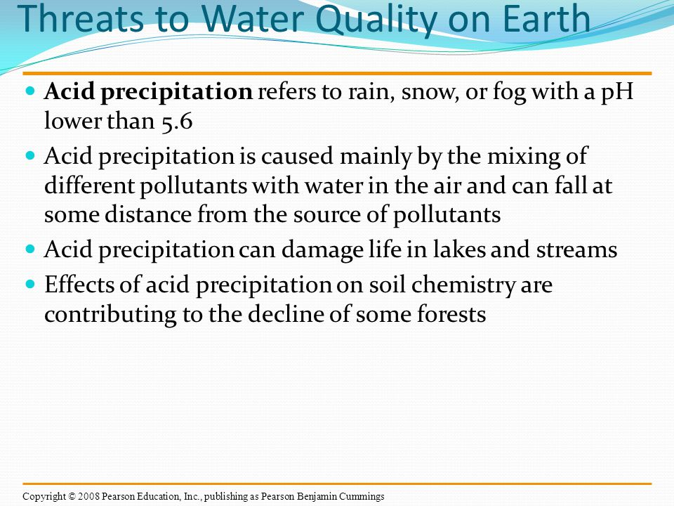 Threats to Water Quality on Earth