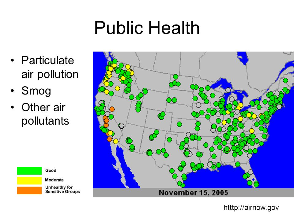 Public Health Particulate air pollution Smog Other air pollutants
