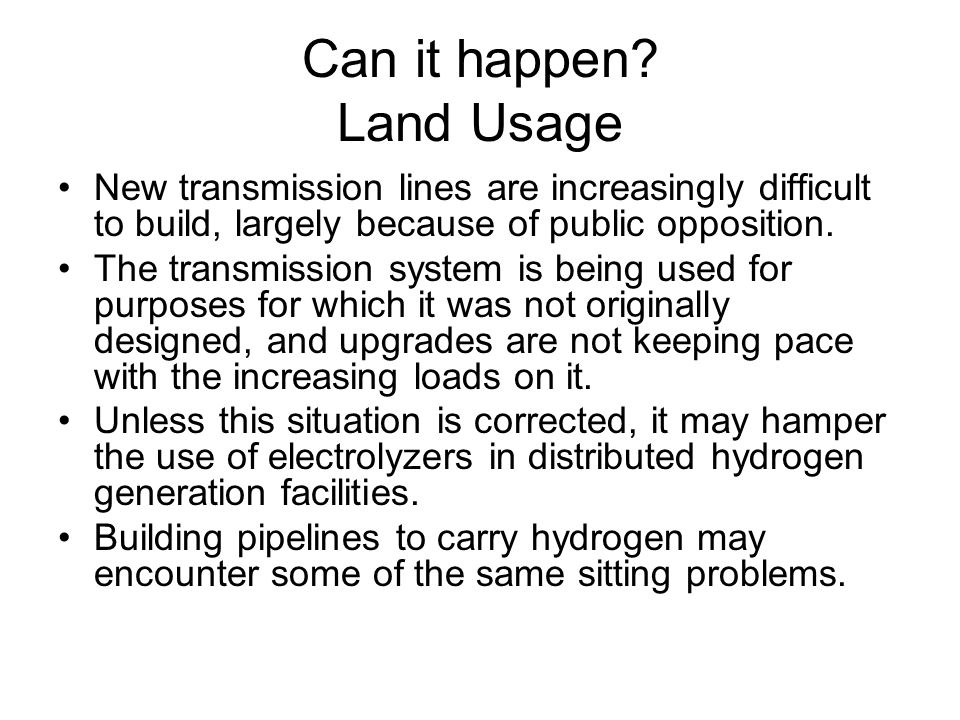 Can it happen Land Usage