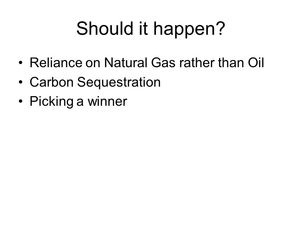 Should it happen Reliance on Natural Gas rather than Oil