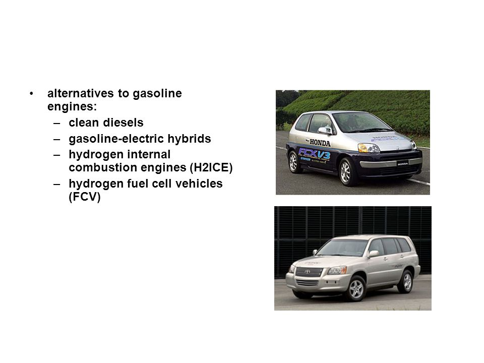 alternatives to gasoline engines: