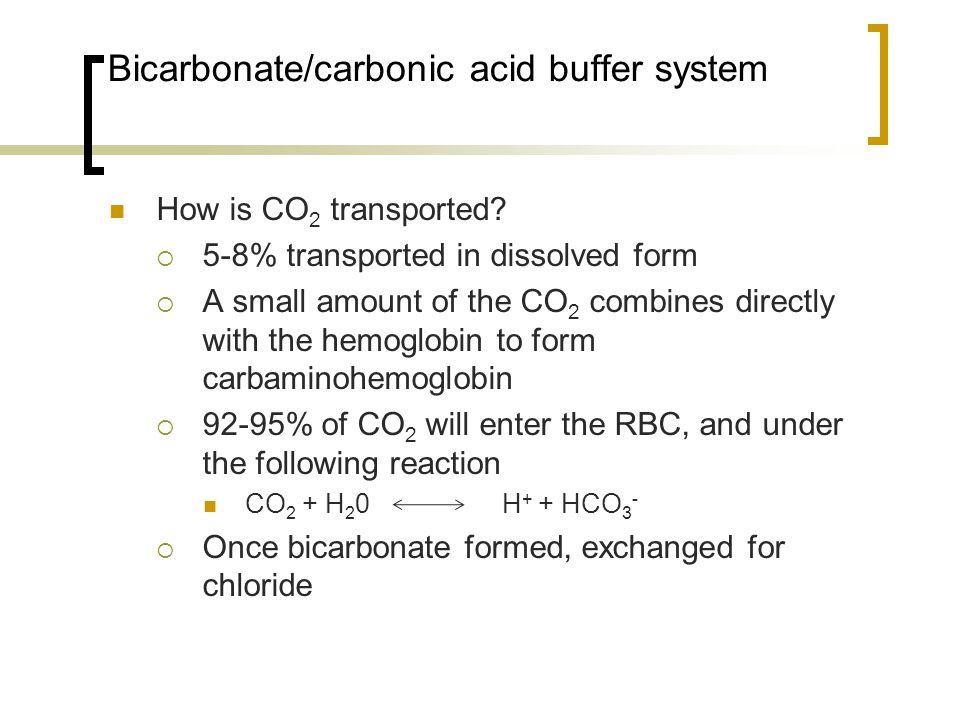 Bicarbonate/carbonic acid buffer system