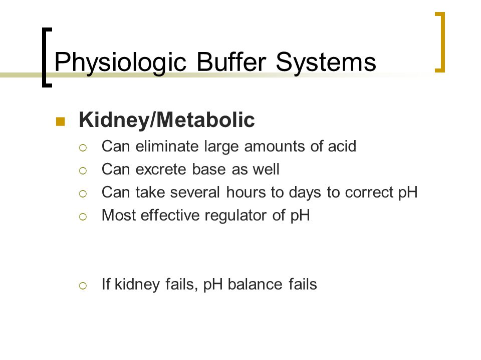 Physiologic Buffer Systems