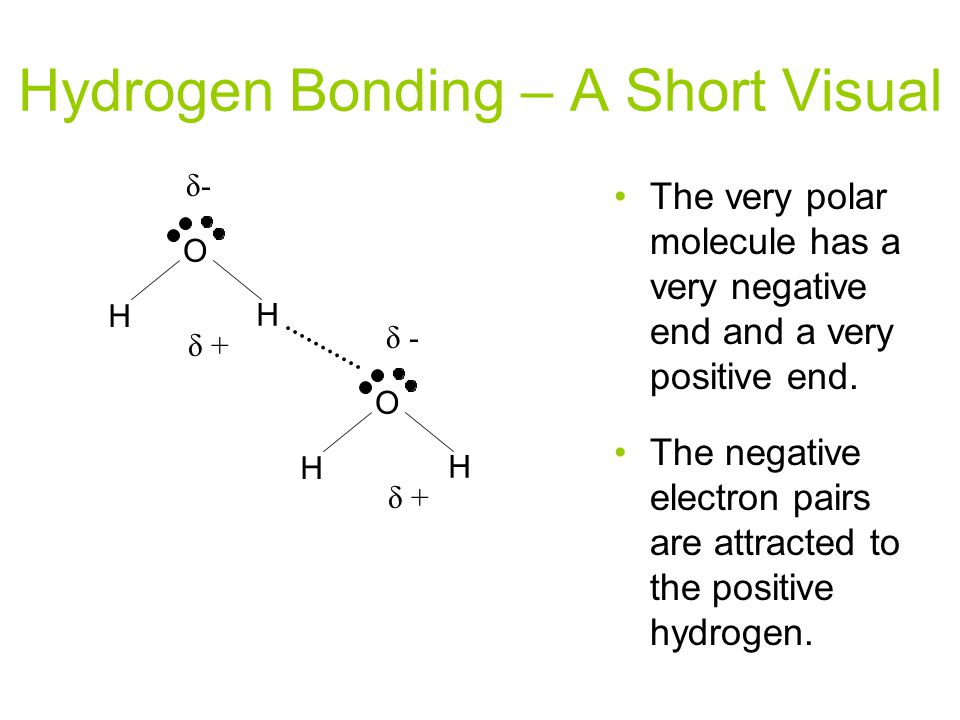 Hydrogen Bonding – A Short Visual
