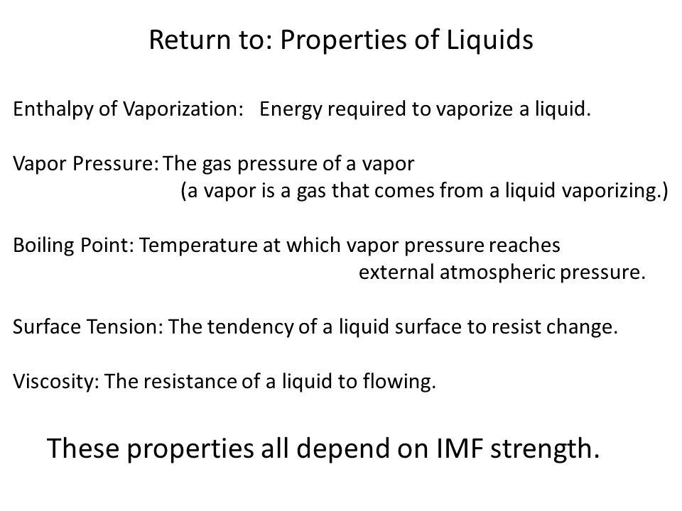 Return to: Properties of Liquids