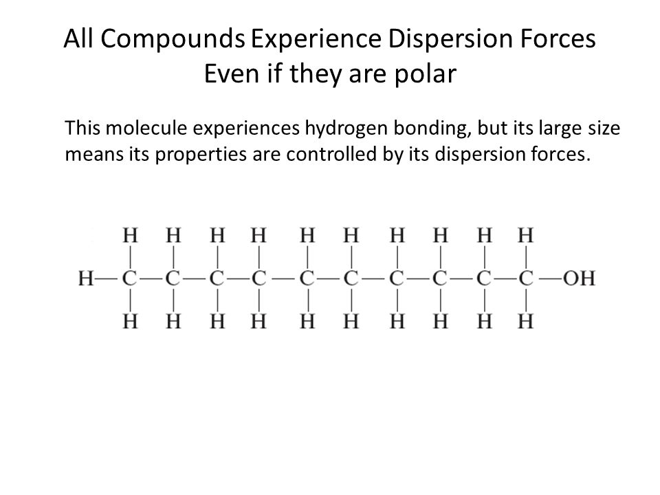 All Compounds Experience Dispersion Forces