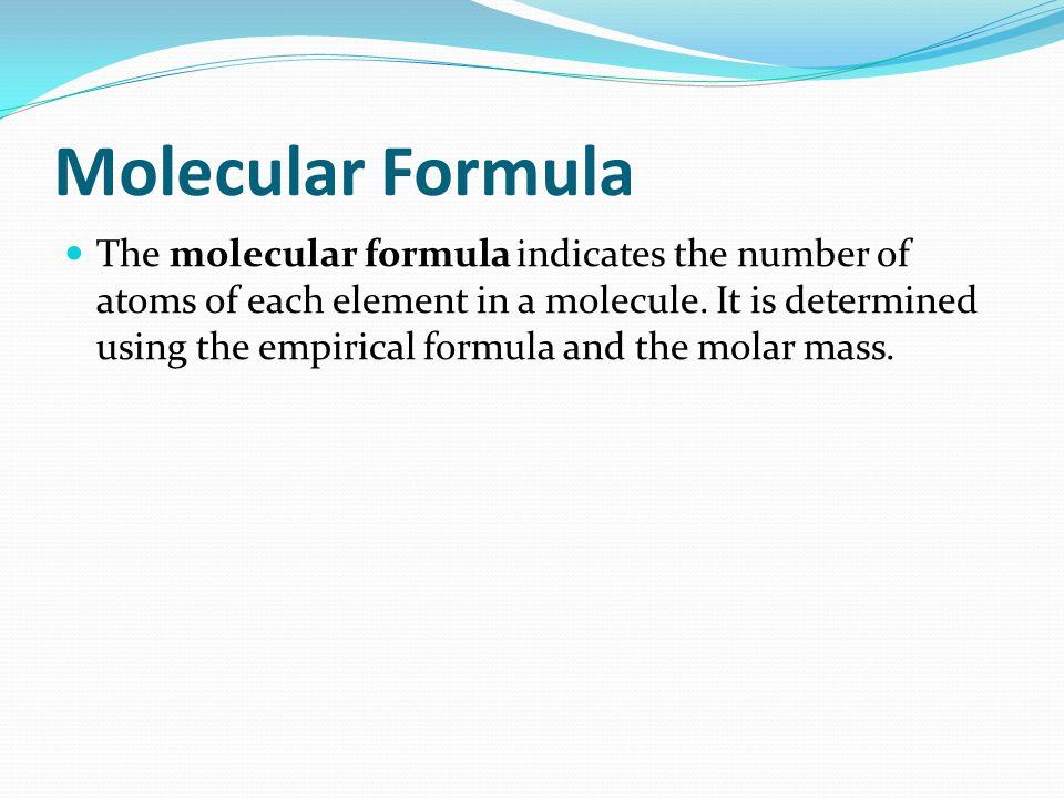 Molecular Formula