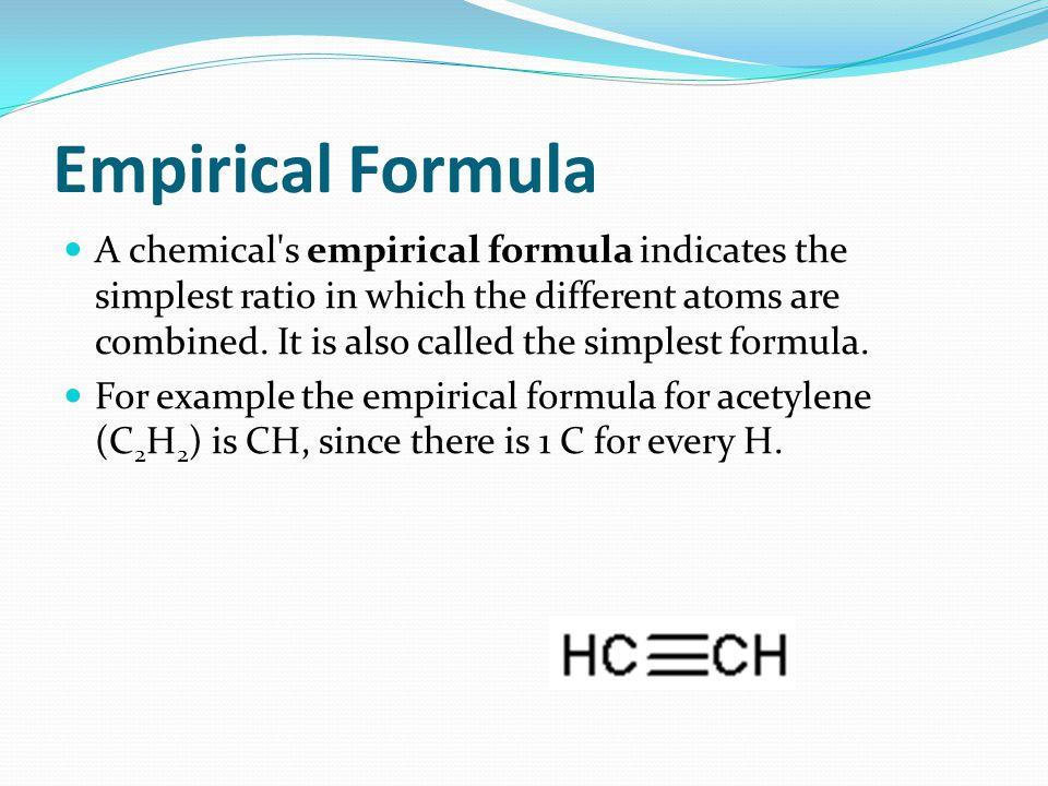 Empirical Formula