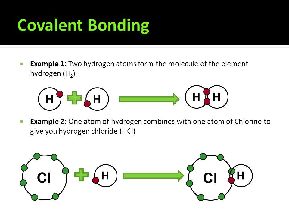 Covalent Bonding Cl Cl H H H H H