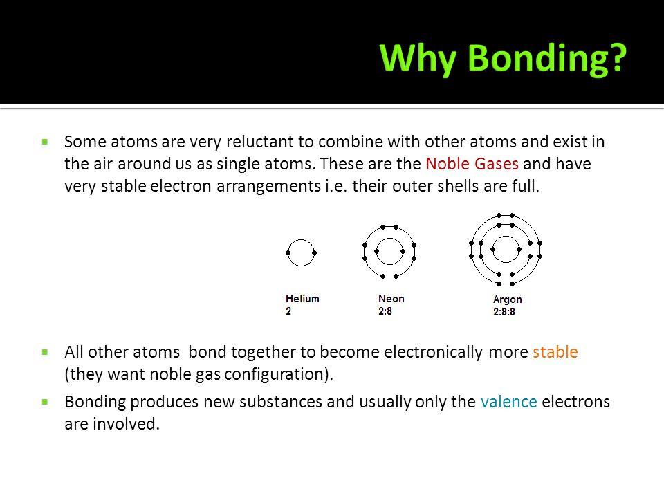 Why Bonding