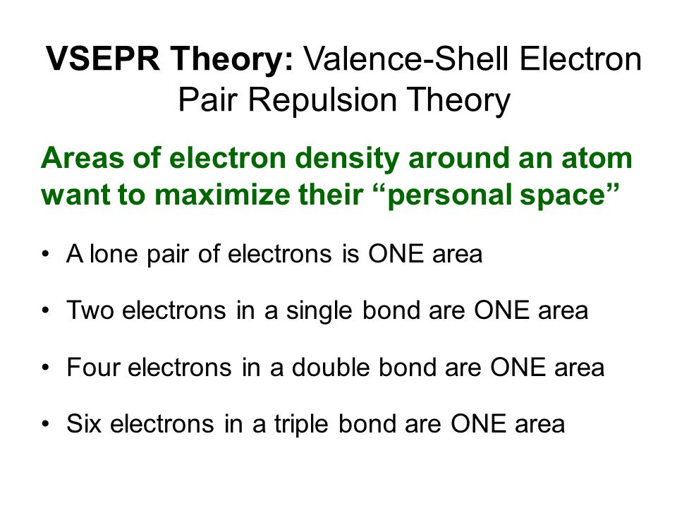 VSEPR Theory: Valence-Shell Electron Pair Repulsion Theory