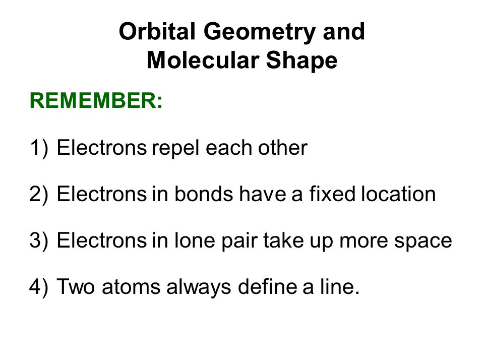 Orbital Geometry and Molecular Shape