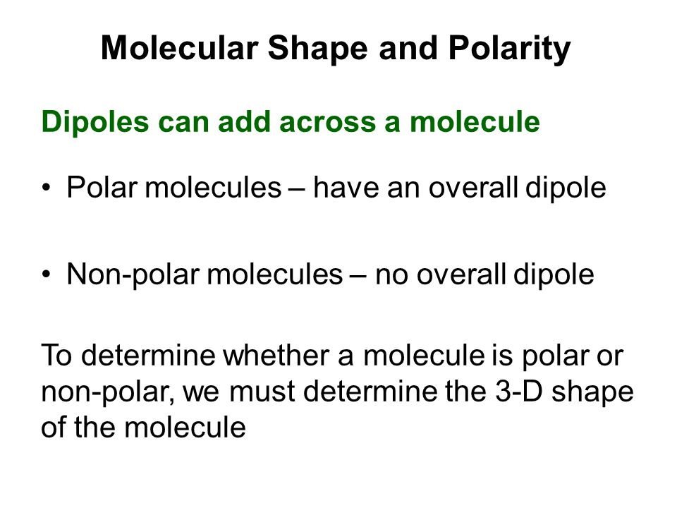 Molecular Shape and Polarity