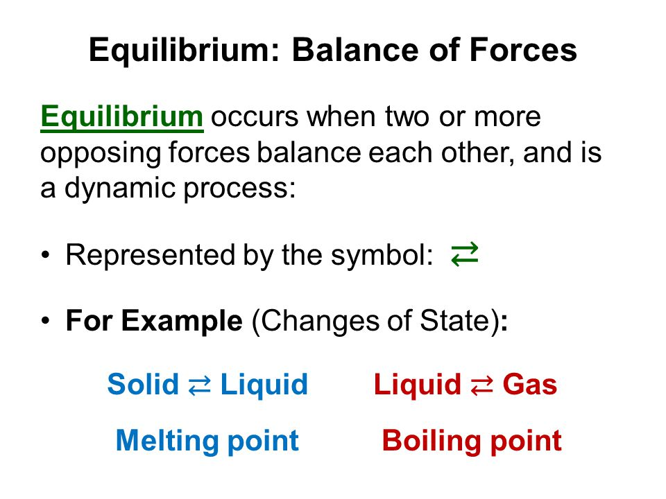 Equilibrium: Balance of Forces