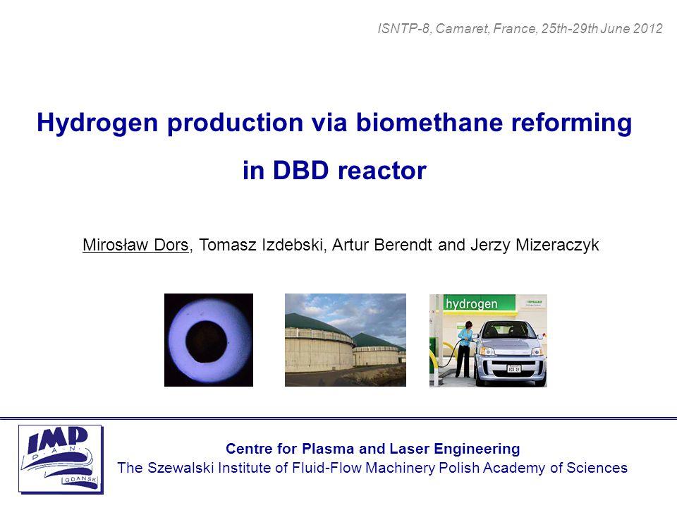 Hydrogen production via biomethane reforming in DBD reactor