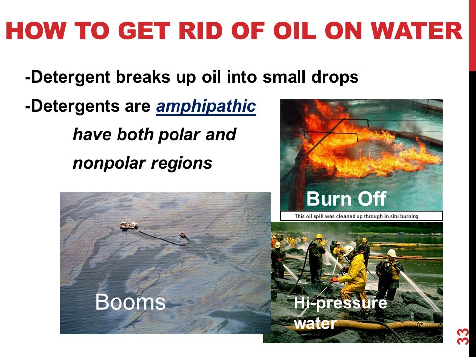 How to get rid of oil on water