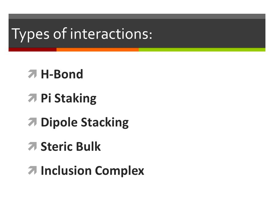 Types of interactions: