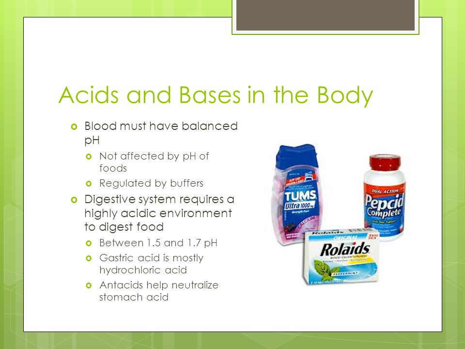 Acids and Bases in the Body