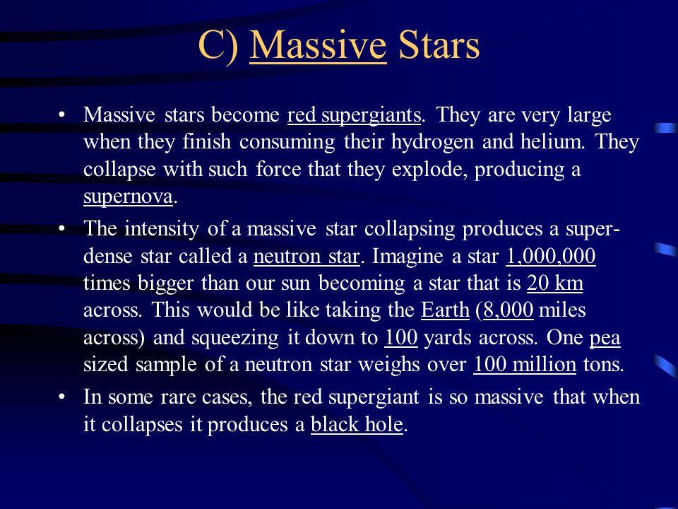 C) Massive Stars