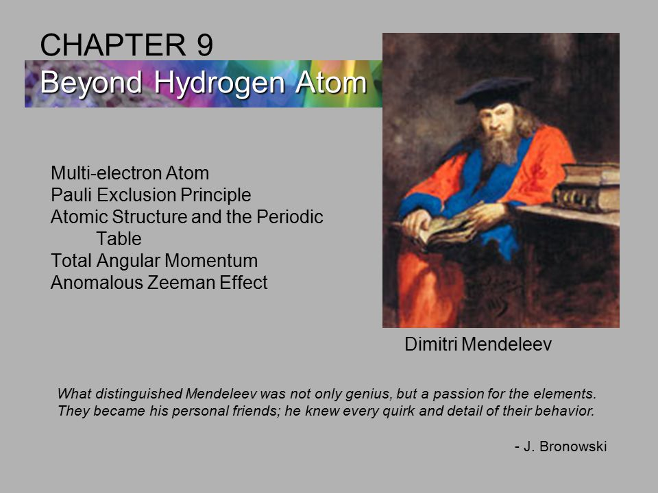 CHAPTER 9 Beyond Hydrogen Atom