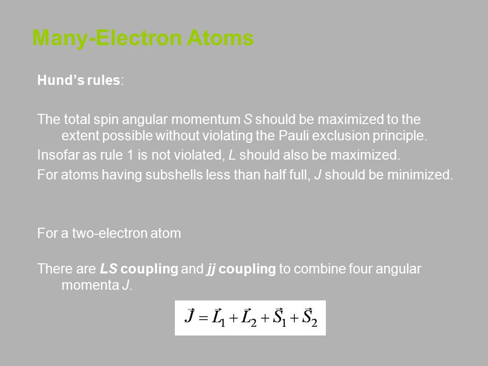 Many-Electron Atoms