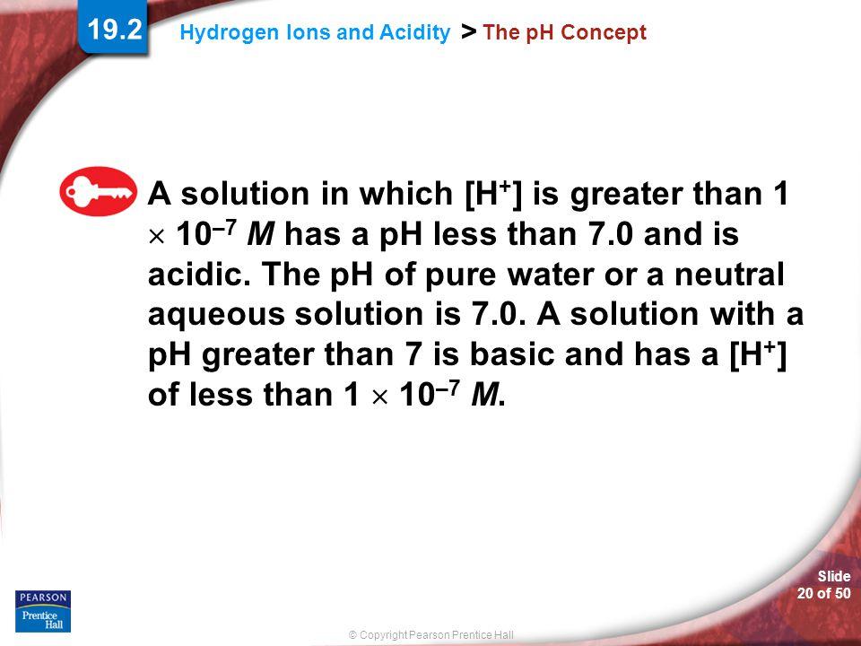 19.2 The pH Concept.