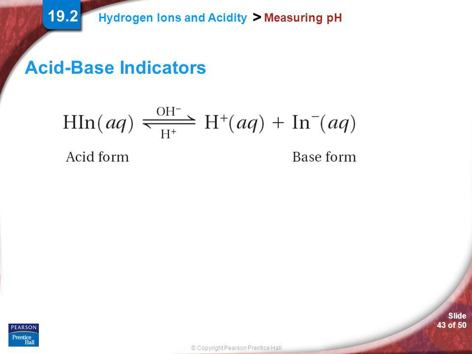 19.2 Measuring pH Acid-Base Indicators