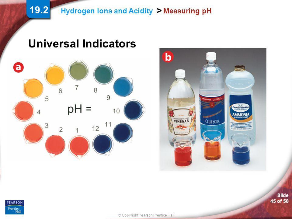 Universal Indicators 19.2 Measuring pH