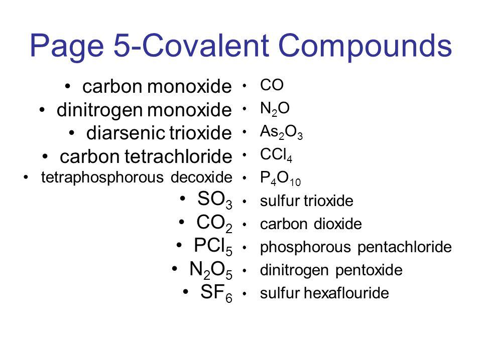 Page 5-Covalent Compounds