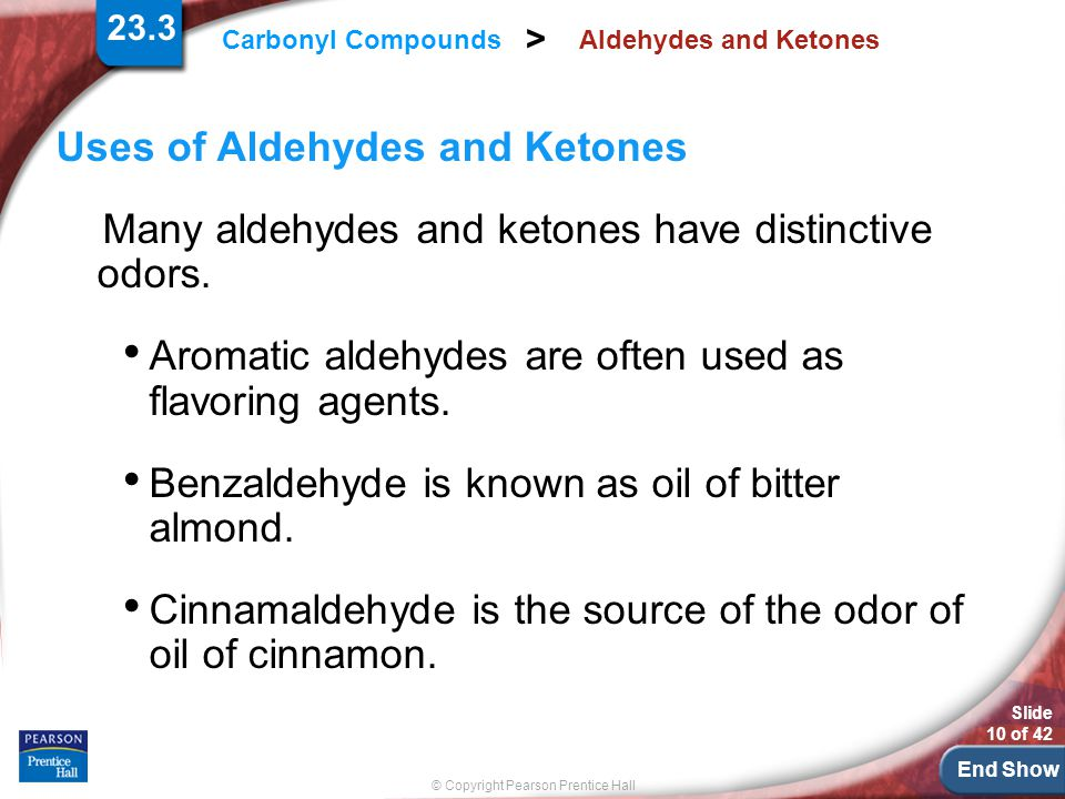 Uses of Aldehydes and Ketones