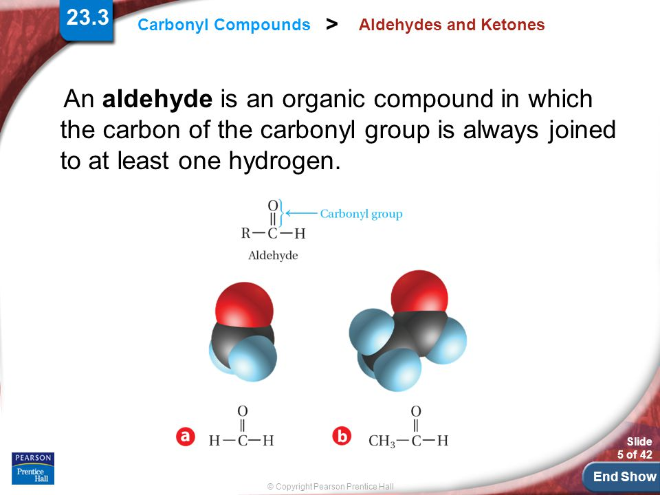 23.3 Aldehydes and Ketones.
