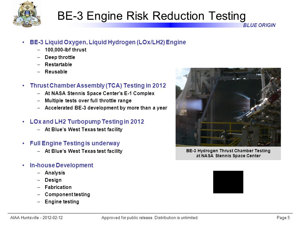 BE-3 Engine Risk Reduction Testing