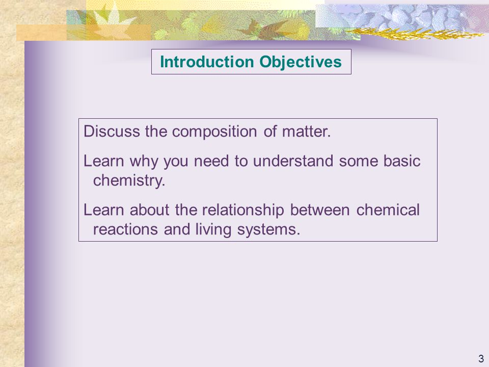 Introduction Objectives