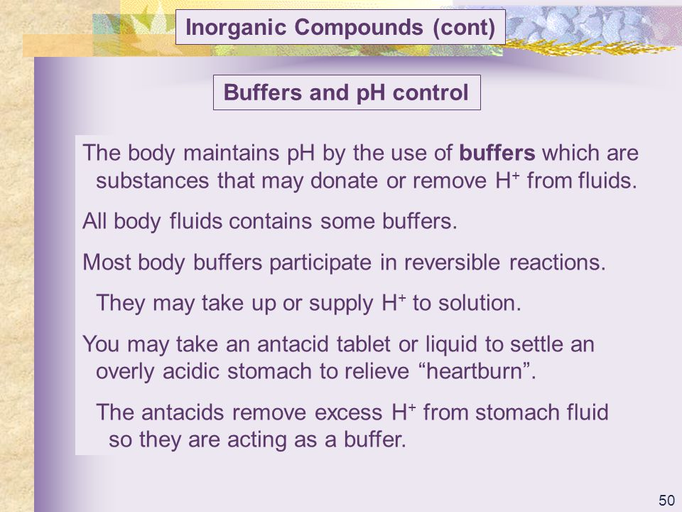Inorganic Compounds (cont)