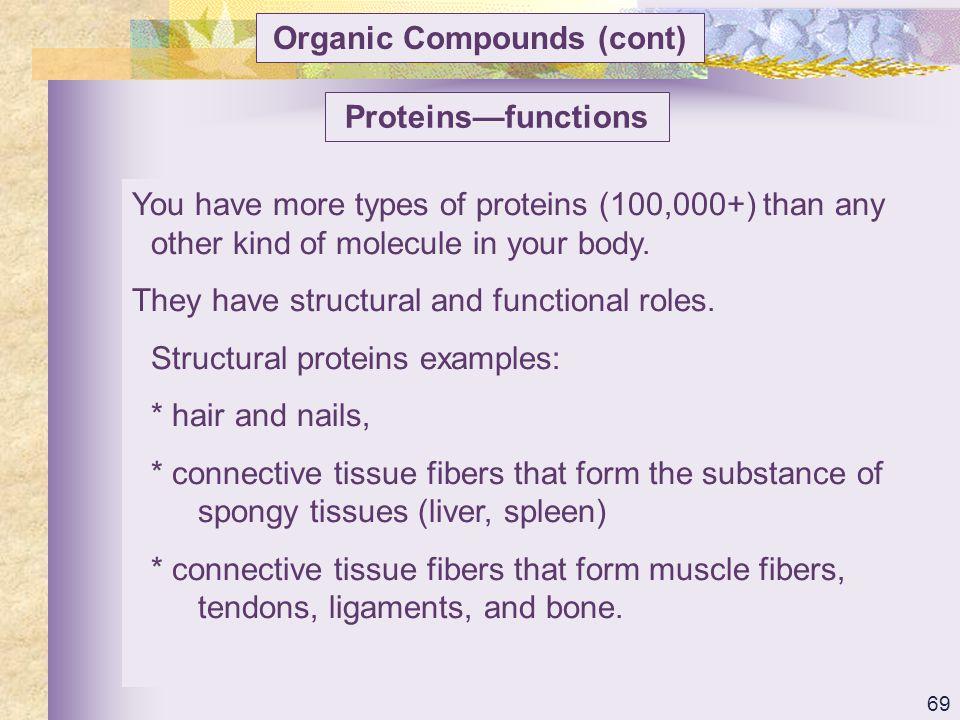 Organic Compounds (cont)