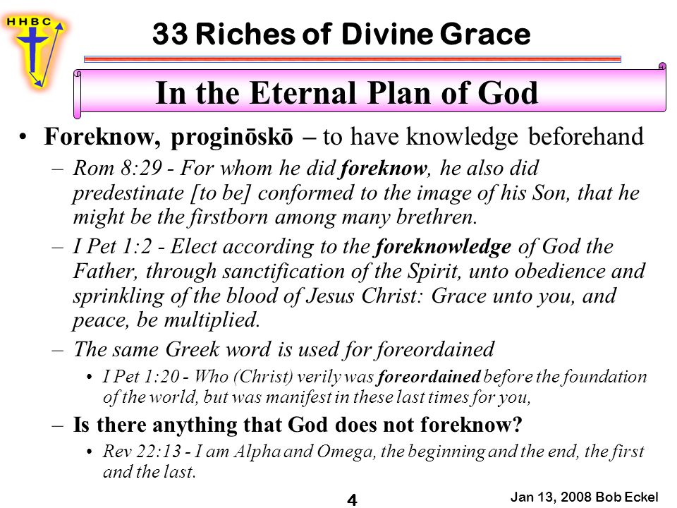 In the Eternal Plan of God