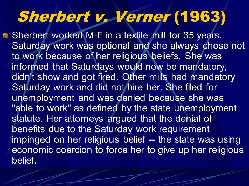 Sherbert v. Verner (1963)