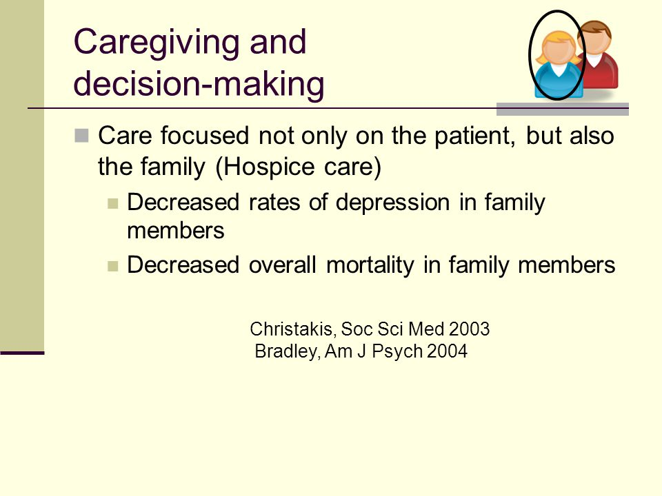 Caregiving and decision-making