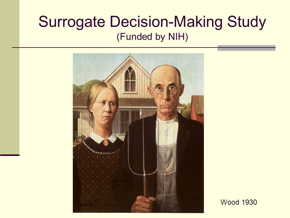 Surrogate Decision-Making Study (Funded by NIH)