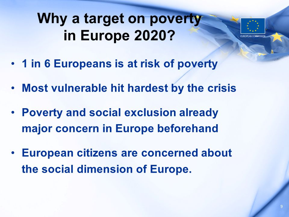 Challenges and priorities of the flagship on poverty