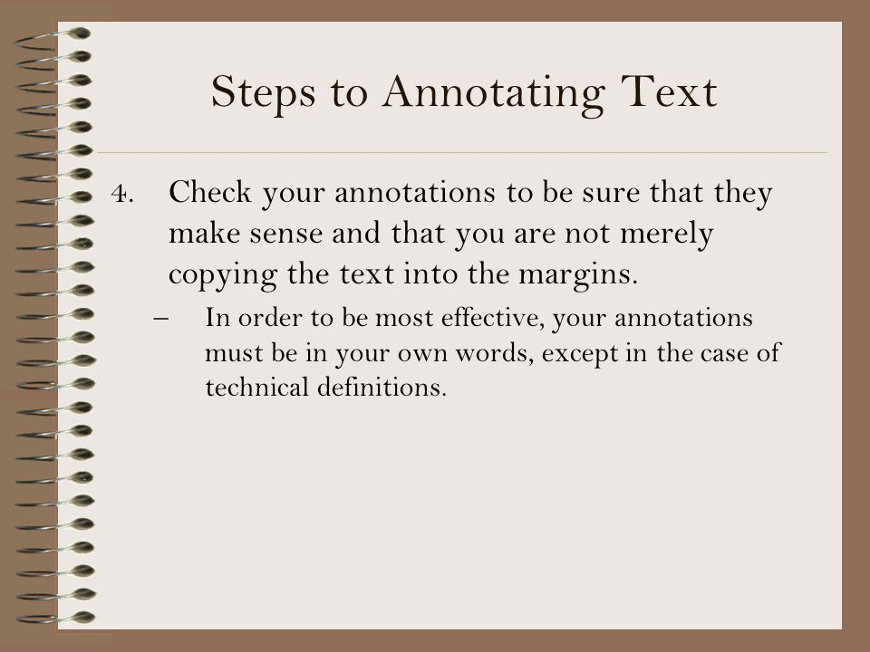 Steps to Annotating Text