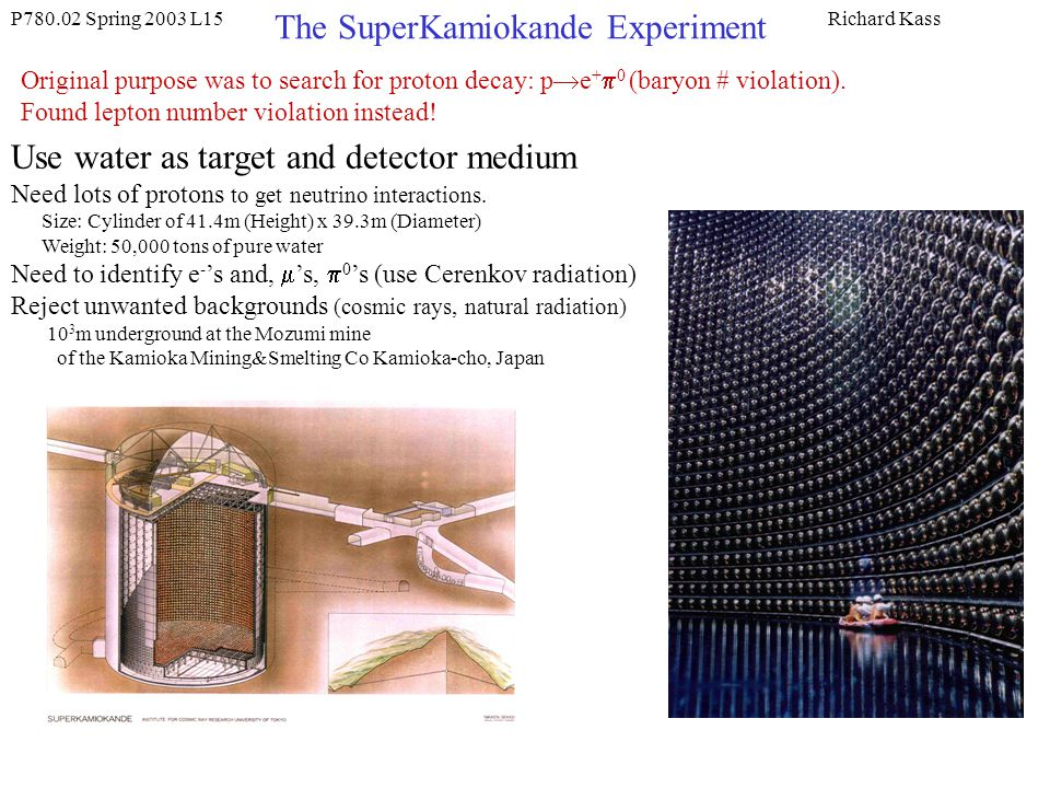 The SuperKamiokande Experiment