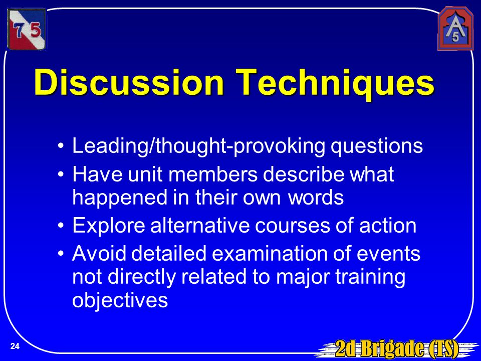 Discussion Techniques