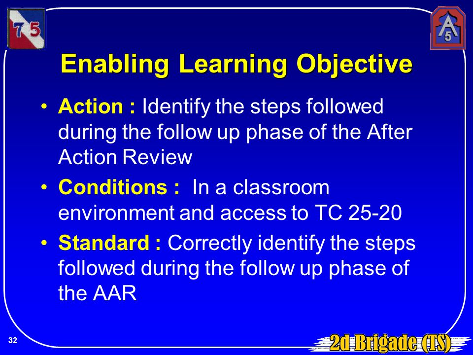 Enabling Learning Objective