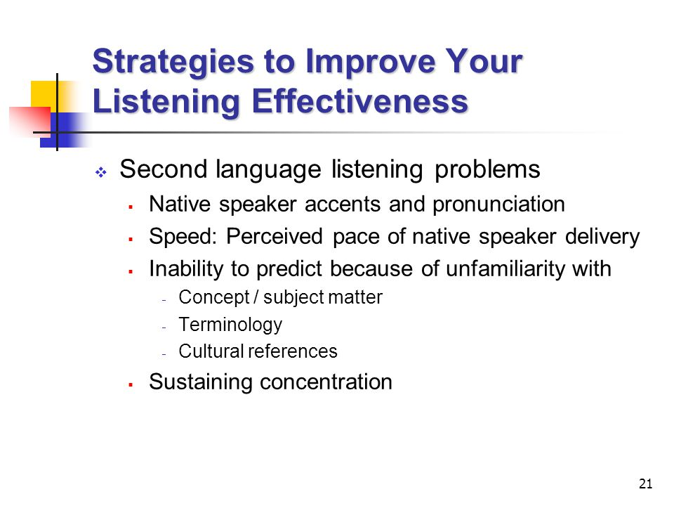 Strategies to Improve Your Listening Effectiveness