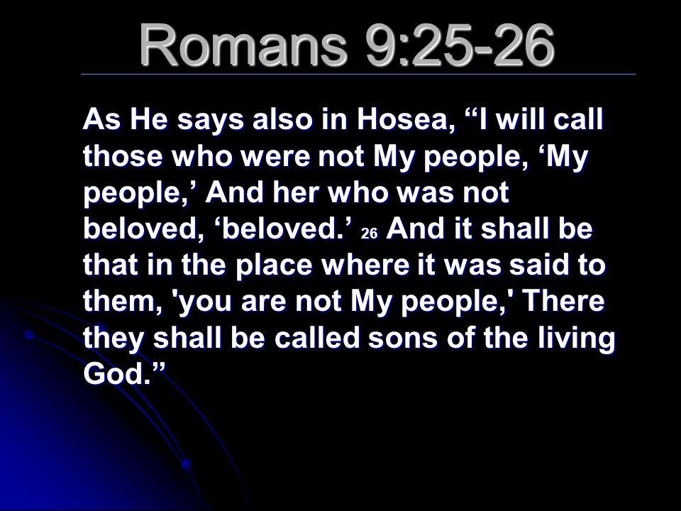 Romans 9:25-26