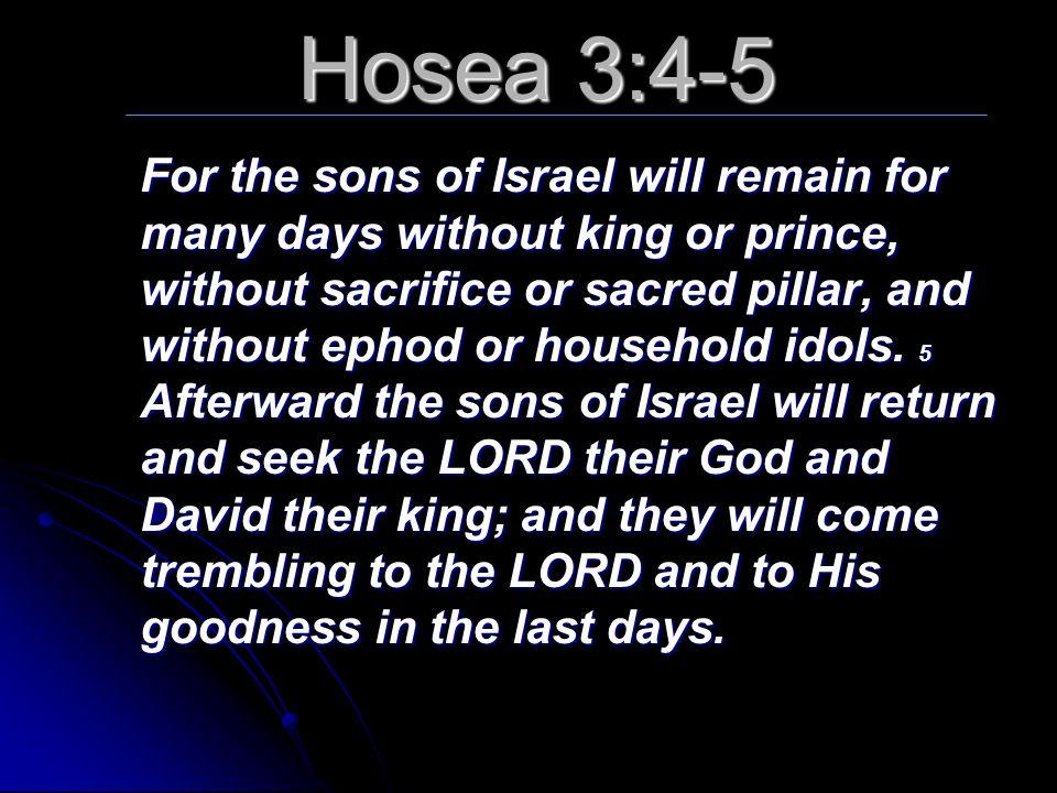 Hosea 3:4-5
