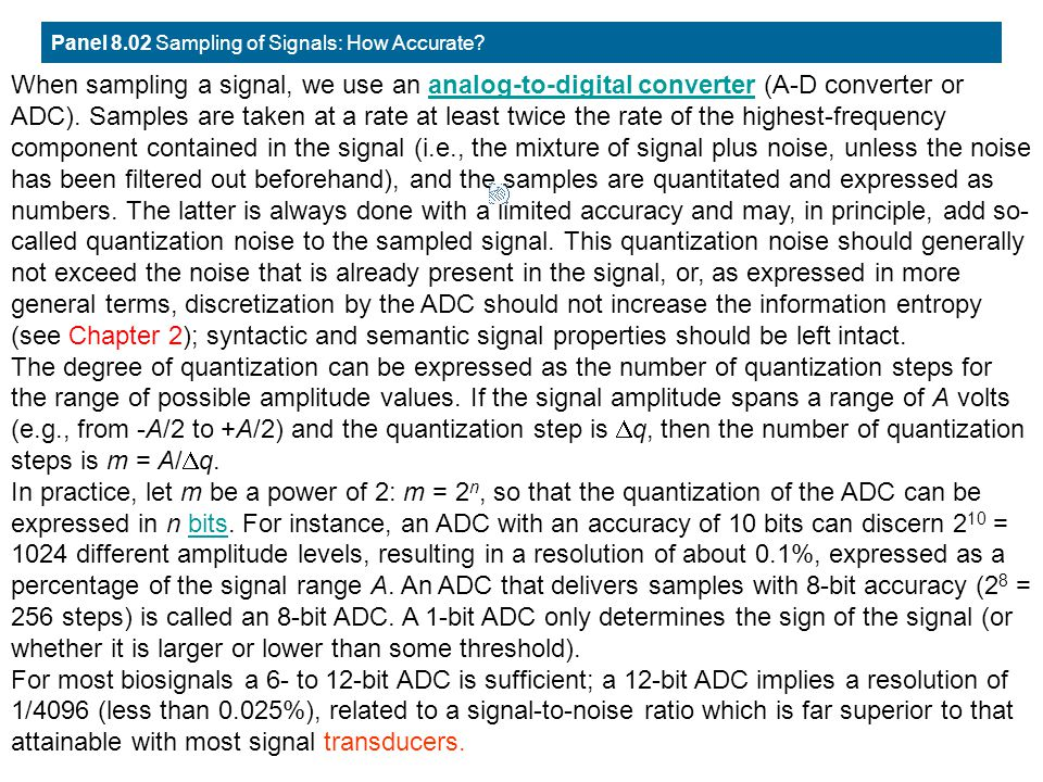 Panel 8.02 Sampling of Signals: How Accurate