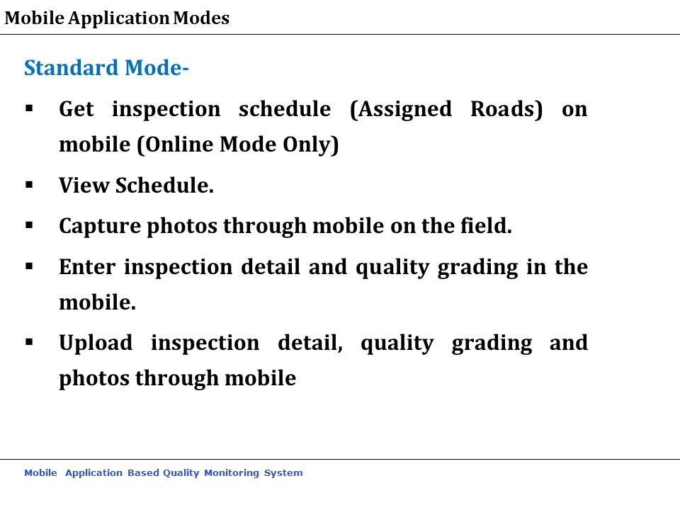 Get inspection schedule (Assigned Roads) on mobile (Online Mode Only)